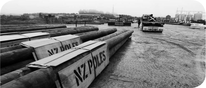 Utility Pole supplier, manufactuer of machine rounds, retaining poles and timber structures